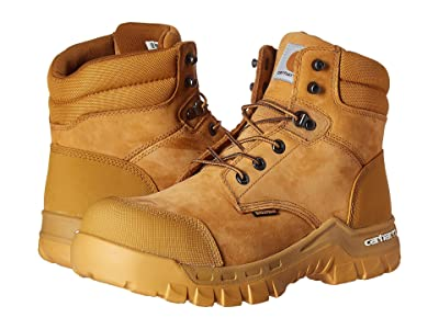 Carhartt 6 Rugged Flex Waterproof Comp Toe Work Boot (Wheat Oil Tanned Leather) Men