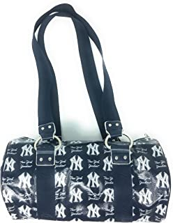 B for Betsy MLB New York Yankees Lacquered Canvas Tube Bag