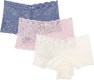 MAE Amazon Brand Women's Galloon Lace Cheeky Panty, 3