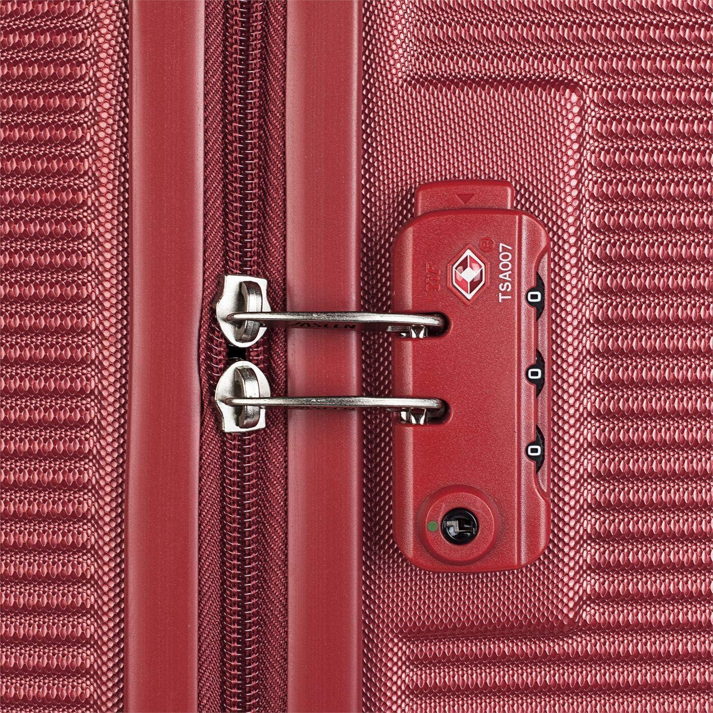 JASLEN Petit Voyage Low Cost 171000 r/ésistant et l/éger Lot de 3 valises /à roulettes en ABS textur/é de 50//60//70 cm Rigide 4 Roues Doubles Cadenas TSA Color Rouge