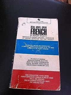 Read Write Speak French