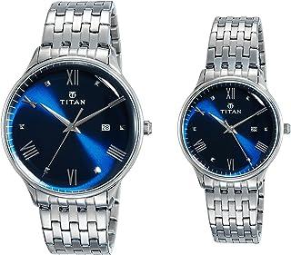 Titan Bandhan Analog Blue Dial Couple's Watch NM9400194201SM01/NN9400194201SM01