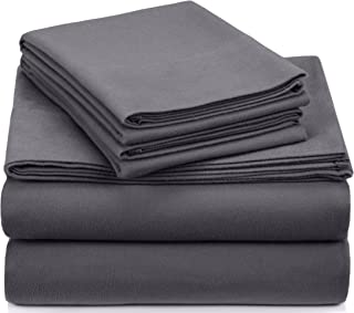 190 GSM Flannel Sheet Set, 100% Cotton, Graphite, King