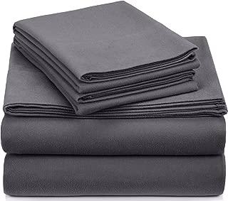 Pinzon Signature Cotton Heavyweight Velvet Flannel Sheet Set - Queen, Graphite