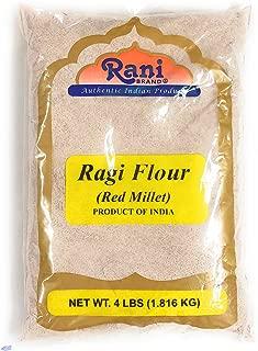 Rani Raggi Flour (Finger Millet) 4 Pound, 4lbs (64oz) Bulk ~ All Natural | Vegan | Gluten Free Ingredients | NON-GMO | Indian Origin
