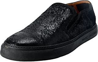 Marc Jacobs Men's Black Sparkle Leather Loafers Slip On Shoes US 10 IT 9 EU 43