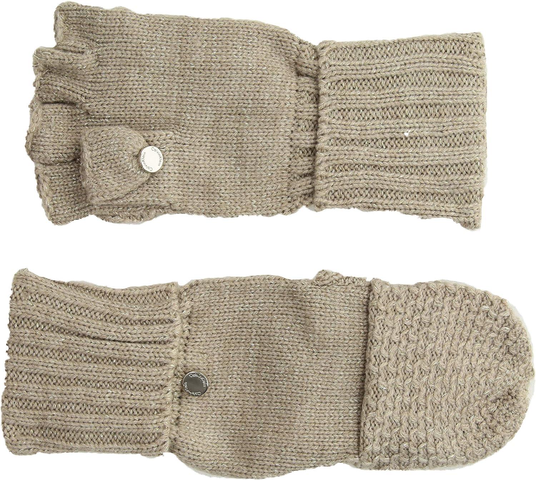 Calvin Klein womens Lurex Textured Flip Top Glove