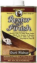 Howard Products RF6016 Restor-A-Finish, 16 oz, Dark Walnut