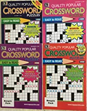 Lot of 4 Quality Popular Crossword Special Easy To Read Crosswords Puzzles Books 2018 Lot #2