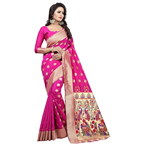 577da473767e0 SATYAM WEAVES WOMEN S ETHNIC WEAR KANJIVARAM COTTON SILK SAREE. (SINDOOR)