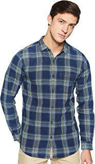 Spykar Men's Checkered Slim Fit Casual Shirt