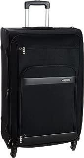 Aristocrat Polyester 76 cms Black Soft Sided Suitcase (STVEYWH76BLK)