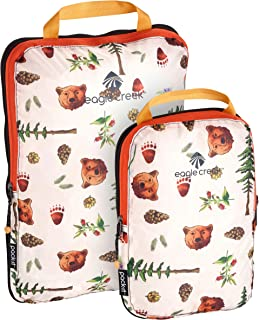 Pack-It Specter Compression Packing Cubes, Golden State Print, Set of 2 (S, M)