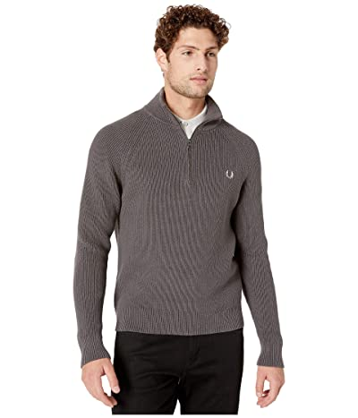 Fred Perry 1/2 Zip Knitted Track Jacket (Gunmetal) Men