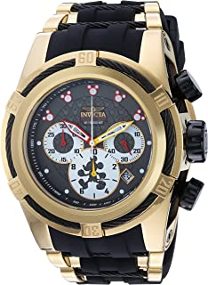 Invicta Men's Disney Limited Edition Quartz Watch with Stainless-Steel Strap, Black, 31 (Model: 23237)