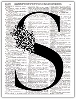 S - Monogram Wall Decor, Letter Wall Art, Dictionary Page Art Photo Print, 8x10 UNFRAMED