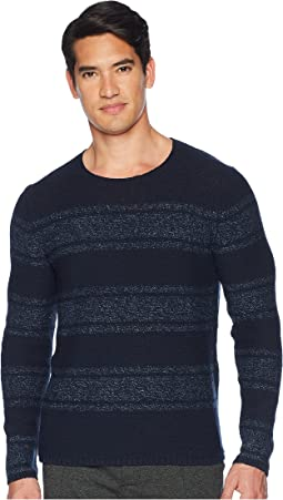 Textured Stripe Crew Neck