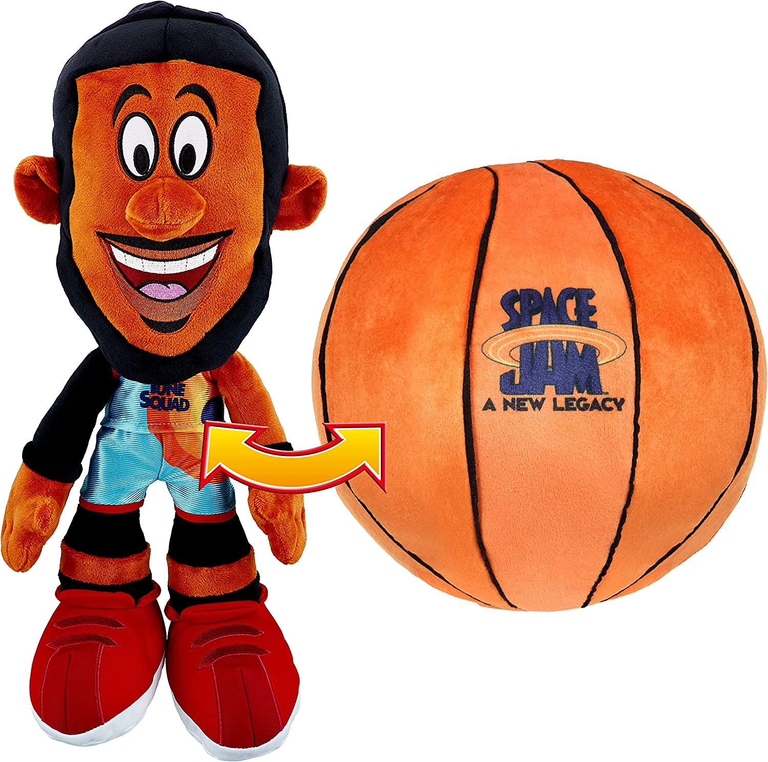 Space Jam: A New Legacy Transforming LeBron James Plush - Transform from Ball to LeBorn
