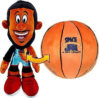 "SPACE JAM: A New Legacy - Transforming Plush - 12"" Lebron James into a Soft Plush Basketball"