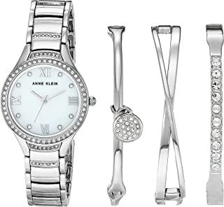 Women's Swarovski Crystal Accented Bracelet Watch and Bangle Set, AK/3580
