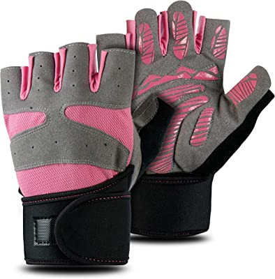 FITSY® Gym Gloves with Wrist Support for Women, Weight Lifting Gloves for Women, Workout Gloves with Padding for Women - Medium