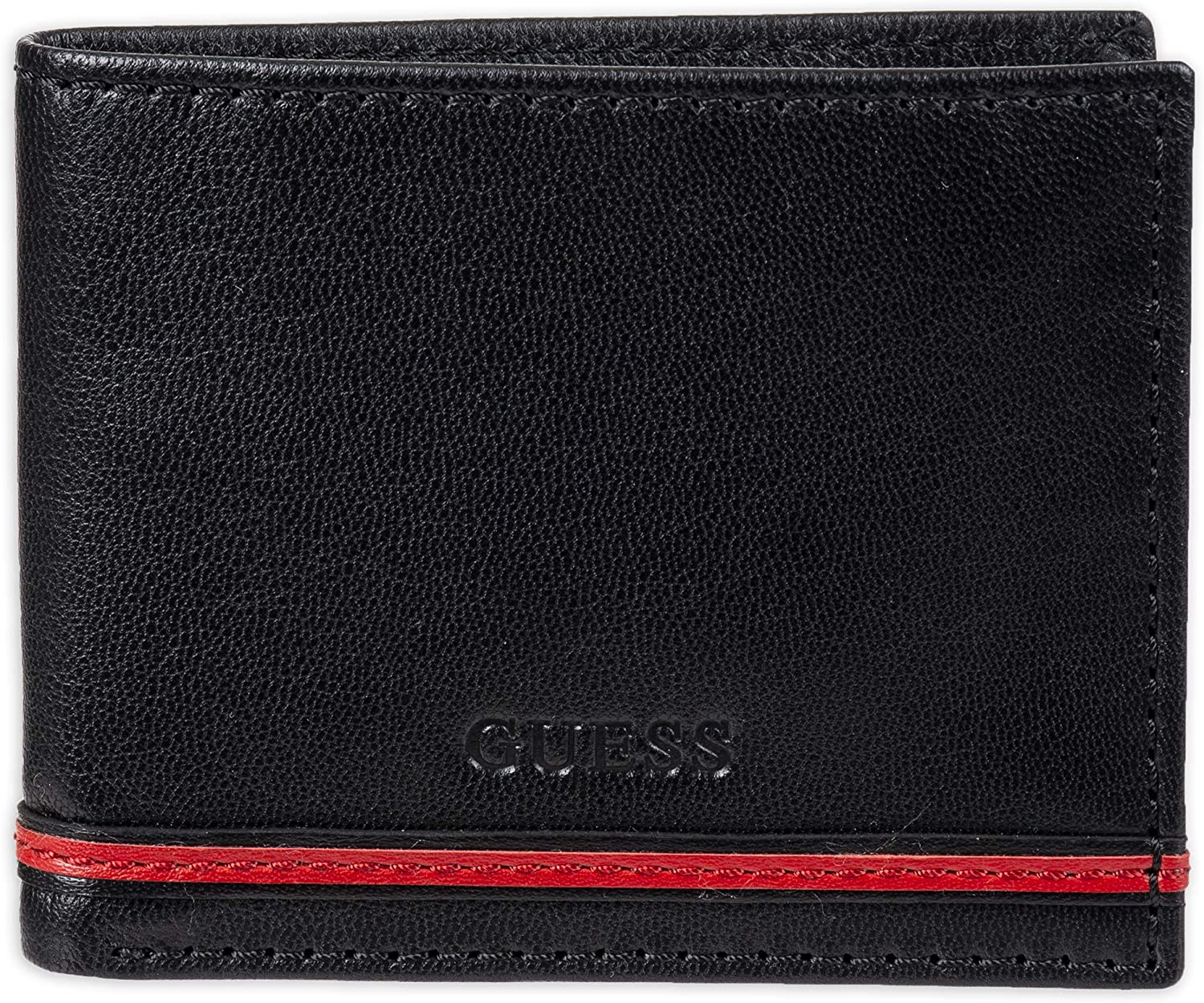 Popular products GUESS Men's Genuine Free Shipping Leather Bifold Slim Wallet