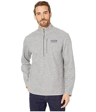 Vineyard Vines Mountain Sweater Fleece 1/2 Zip Pullover (Gray Heather) Men