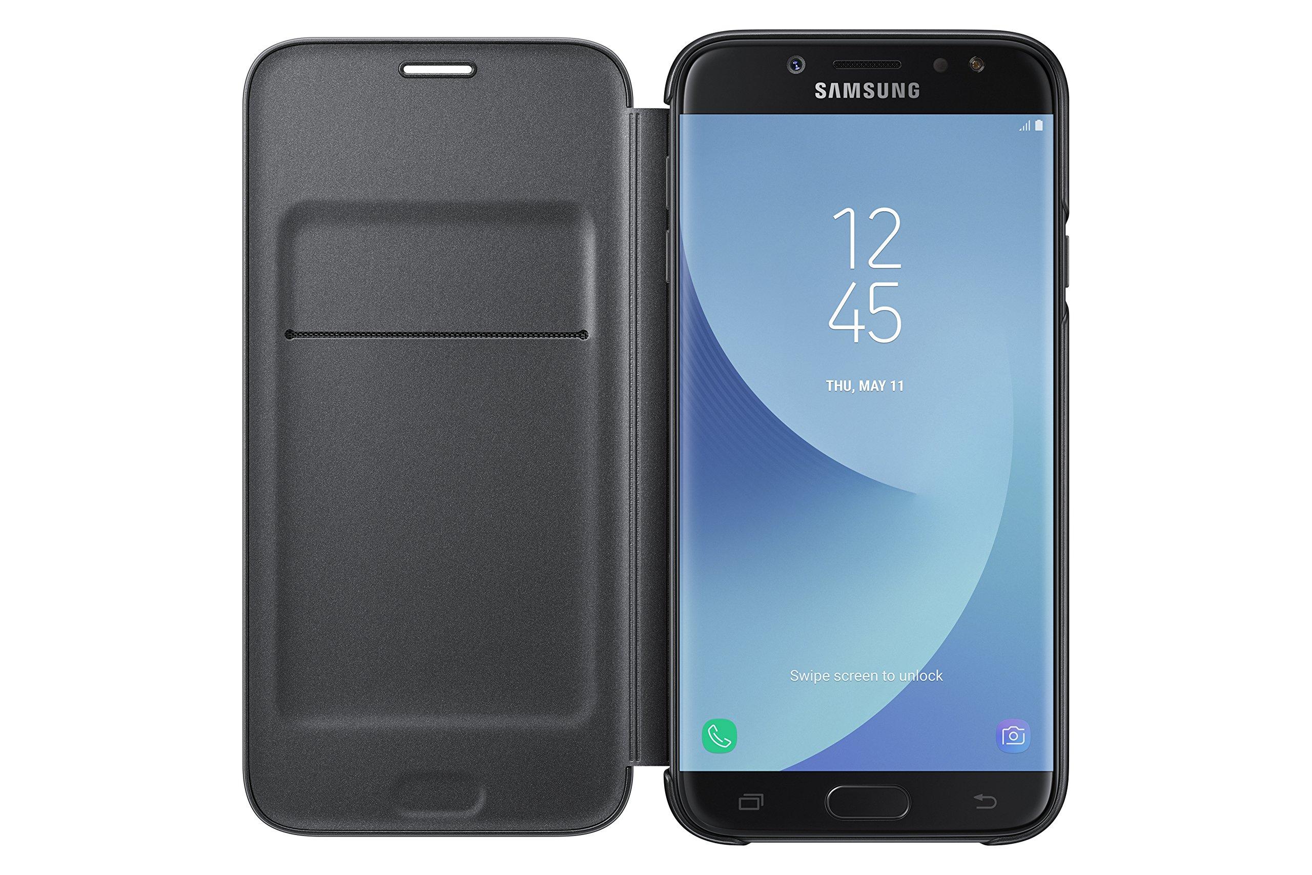SAMSUNG Wallet Cover - Funda con Tapa Galaxy J7 2017, Color Negro ...
