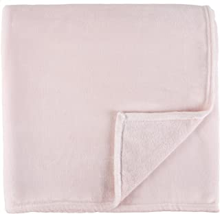 Sleeping Partners Luxe Solid Plush Blanket, Queen, Blush