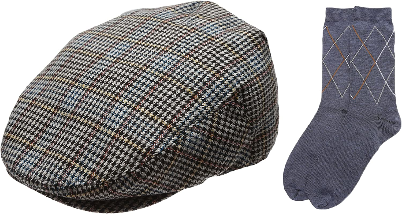 Men's Collection Wool Blend Herringbone Newsboy wi specialty shop Ivy Under blast sales Tweed Hat