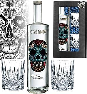 Iordanov Vodka Mexican-Skull | in der Geschenkbox inklusive 2 edlen Tumblern 1 x 0,7 l