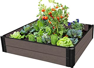 Frame It All 300001427 Weathered Wood Raised Garden Bed