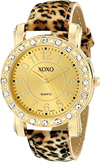 XOXO Womens Quartz Watch, Analog Display and Leather Strap XO3367