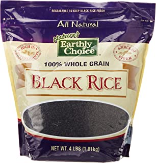 Nature's Earthly Choice All Natural 100% Whole Grain Black Rice, 4 Pound