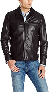 Men's Smooth Leather Collar Jacket