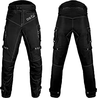 Motorcycle Pants For Men Biker Dual sport Motorbike Pant Waterproof, Windproof Riding Pants All-Weather with Removable CE Armored (Waist 36''- Inseam 32'')