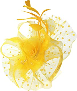 Best yellow and white fascinator Reviews