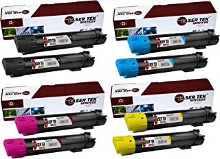 Laser Tek Services Compatible Phaser 7800 Toner Cartridge Replacement for the Xerox 106R01569, 106R01566, 106R01567, 106R01568. (2x Black, 2x Cyan, 2x Magenta, 2x Yellow, 8-Pack)