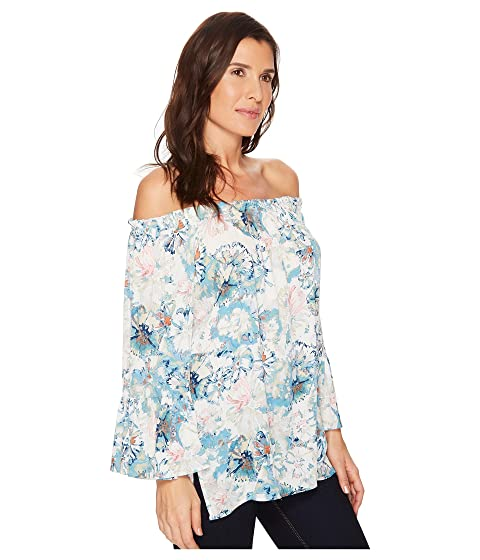 Ruffle Top Slit Side Karen Blue Kane Powder 5naqt5xFg