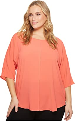 Vince Camuto Specialty Size - Plus Size Elbow Sleeve Center Front Seam Blouse