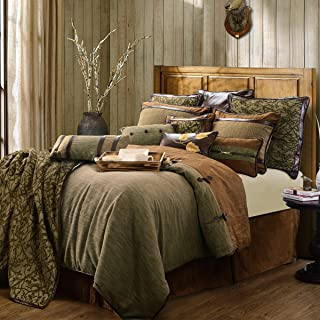 HiEnd Accents 5PC Highland Lodge Bedding Collection Rustic Cabin Western, Super King