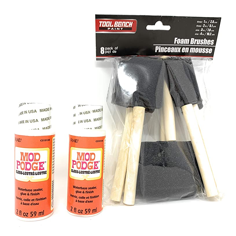 Mod Podge & 8 Foam Brush Bundle zhxrqltiyp