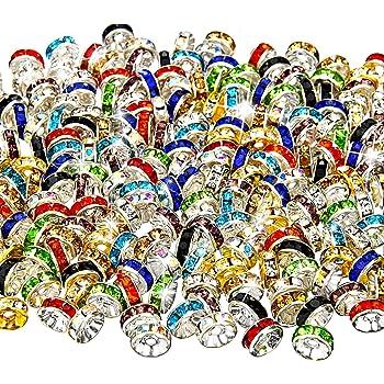 200 Pezzi Colore Misto Perline Rondelle, 10 Colori per Creazione di Gioielli