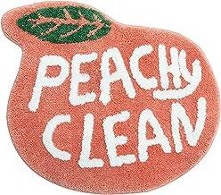 Peach Bathroom Rugs and Mat Cute Cartoon Bath Mat Kids Bathroom Decor Peachy Plush Coral Pink Non-Slip Foot Mat Absorbent ...