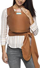 Moby Evolution Baby Wrap Carrier (Caramel) - Toddler, Infant, and Newborn Wrap Carrier - Wrap Baby Carrier Ideal for Parents On The Go - Ergonomic Baby Wrap for Mom Or Dad - A Registry Must Have
