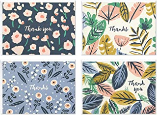 Hallmark Thank You Cards Assortment, Painted Florals (48 Cards with Envelopes for Baby Showers, Bridal Showers, Weddings, ...