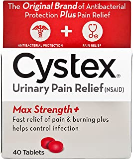 Cystex Urinary Pain Relief Tablets | Fast UTI Treatment | Controls Frequent Urination | Keeps Urinary Tract Infection from...