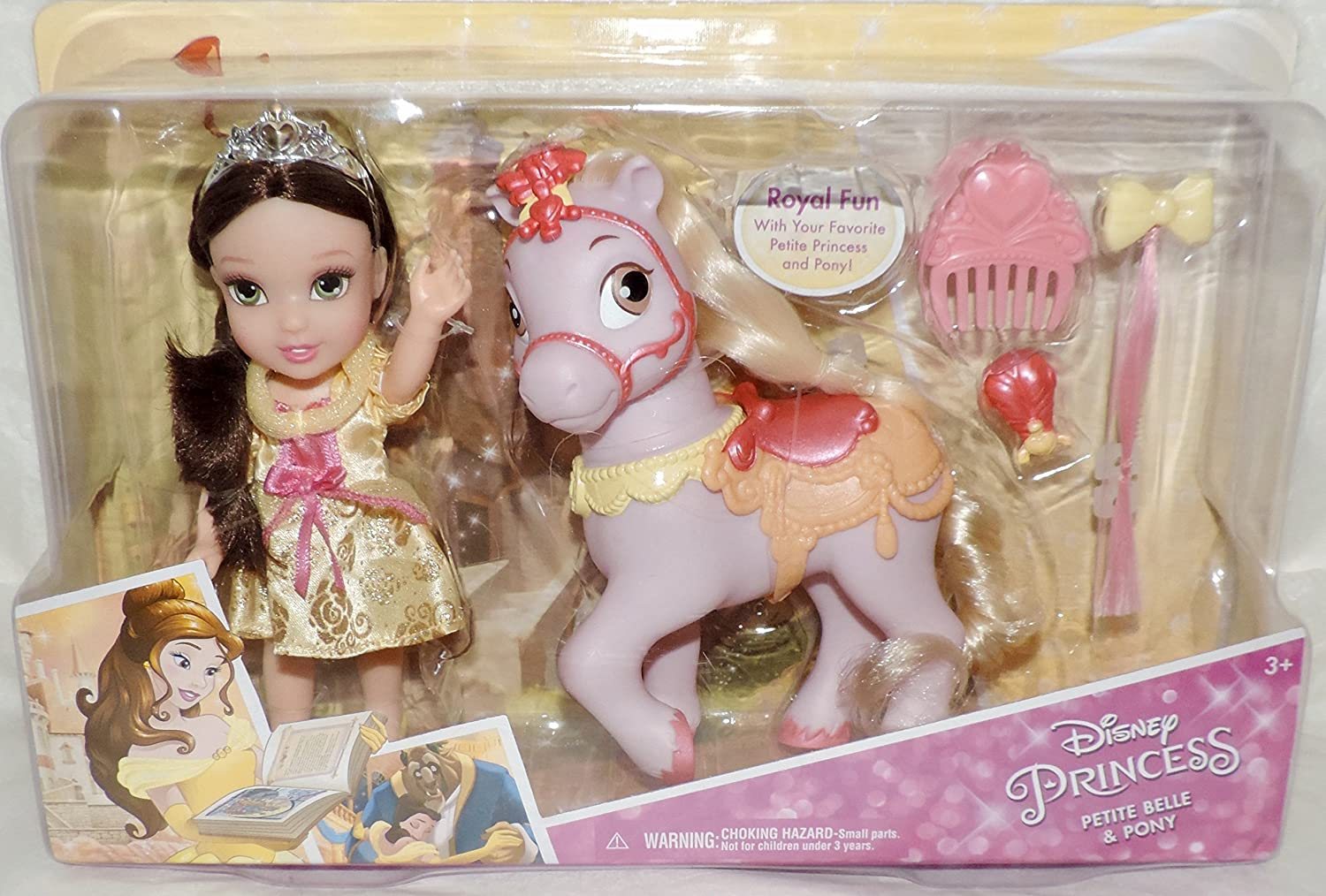 Disney Princess Petite Complete Free Shipping Belle and Doll Large-scale sale Beast the Pony Beauty