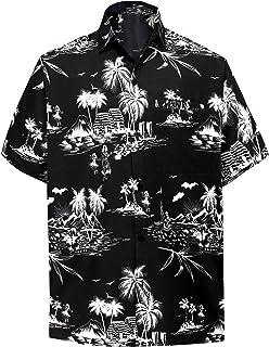 37d8cd57eb38d LA LEELA | Funky Chemise Hawaïenne | Hommes | XS - 7XL | Manche-Courte