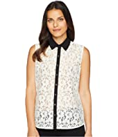 Tommy Hilfiger Sleeveless Lace Pullover Top